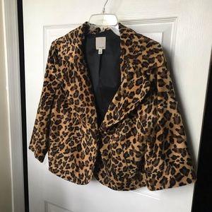 Halogen leopard jacket large
